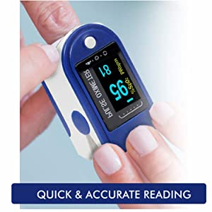 Quick and reliable reading by Lumino Cielo Pulse Oximeter