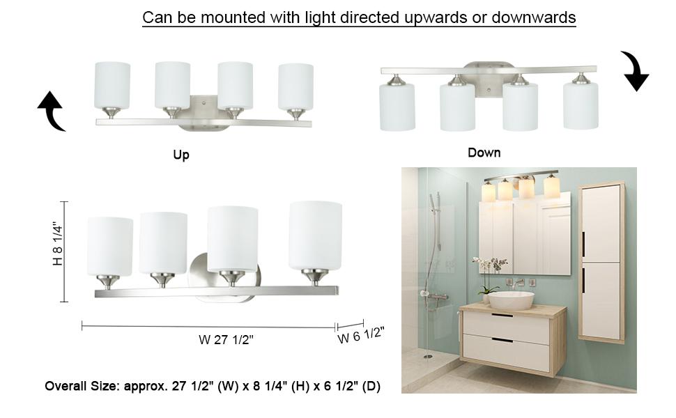 4 light vanity fixture brushed nickel vanity fixture 4 light bathroom vanity light