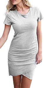 Summer Short Sleeve T Shirt Mini Dress