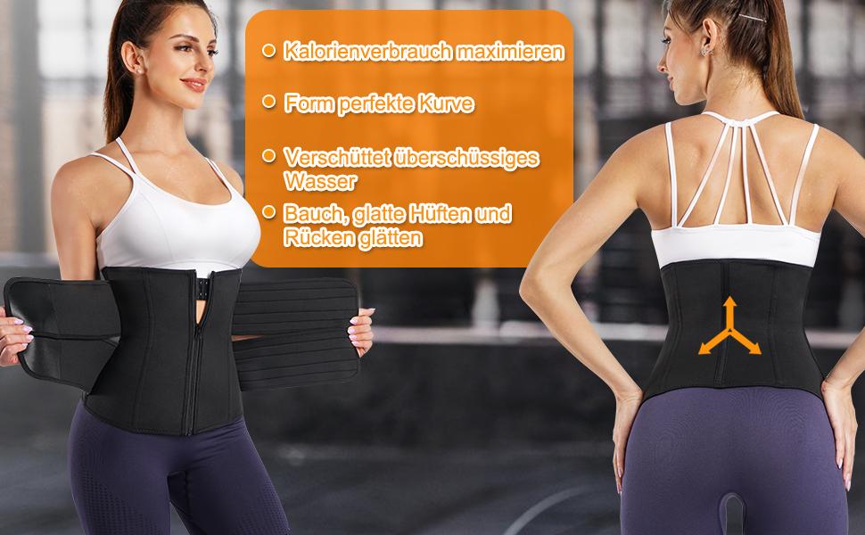 Schweiß damen waist trainer gürtel