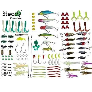 R2F Hook Assortment Kit /& Guide for Catfish Freshwater Lake Stream Fishing