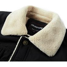 Men's Wool Coat Sherpa Lined Jacket Casual Winter Jacket Fur Collar Jacket Winter Coat Men