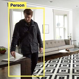 person detection, motion detection, motion detector, person detector, app