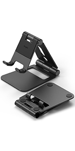 Portable & Foldable stand for smartphones, tablets, gaming consoles.