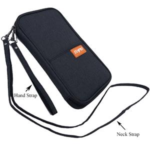 UNICEU Neck Wallet Family Passport Holder FRID Blocking Travel Purse Messenger Shoulder Bag for Women