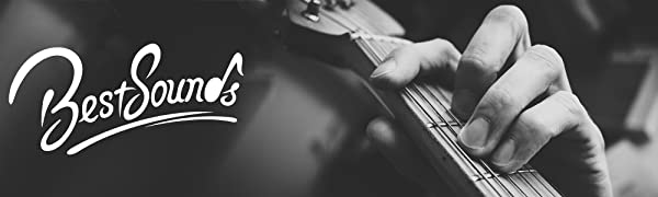 BestSounds leather guitar strap black