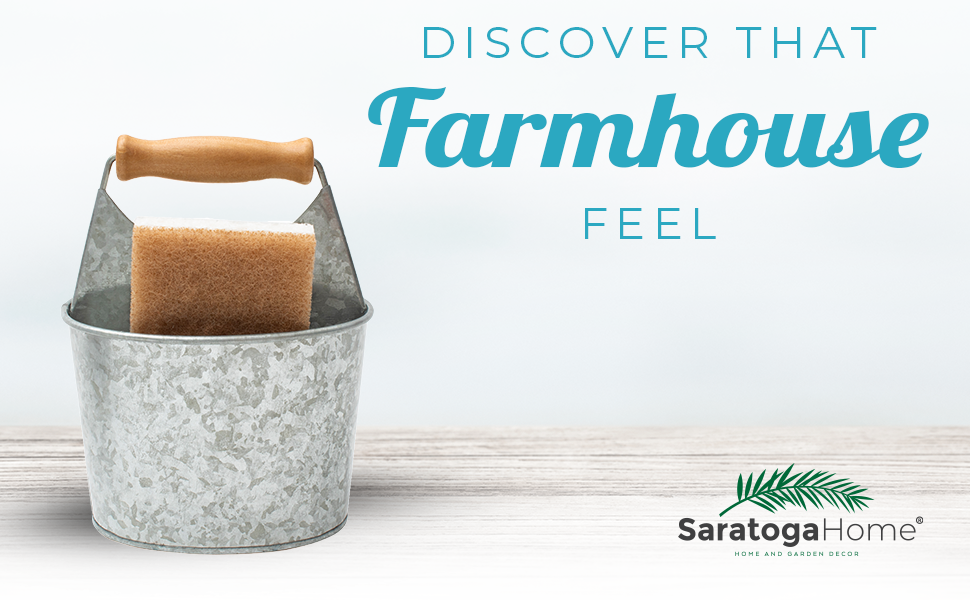 Farmhouse Sponge Holder by Saratoga Home