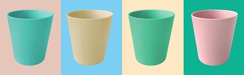 bamboo fiber, plastic free, baby shower, baby cups, toddler, kids, birthday
