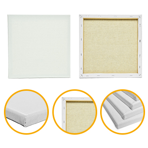 Classic - 8 Pack Gonioa 12x12 Stretched White Blank Square Canvas for Painting Oil Paint /& Wet Art Media ,100/% Cotton Primed Acrylic Pouring