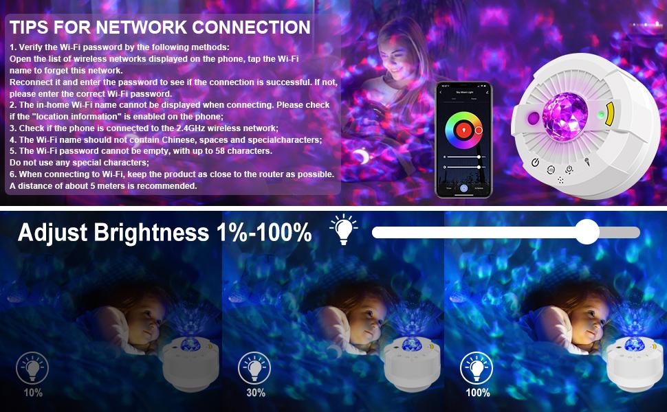 galaxy night light projector light for bedroom