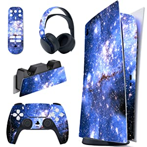 Game PS5 Digital Edition Skin PS5 America Skin Sony Playstation 5 Controller Skin Blue Pattern PS5 Disc Skin PS5 Full Wrap Cover