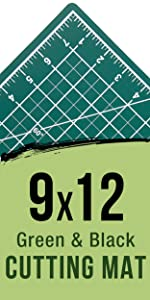 9X12 Green & Black Cutting Mat