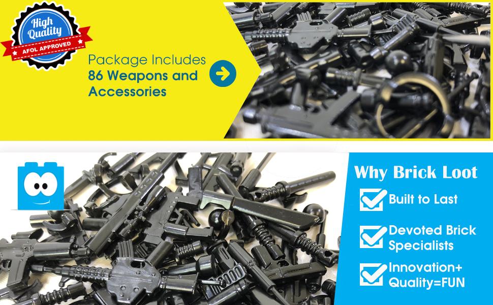 Brick Loot MEGA Minifigure Minifig Weapon Pack Minifigure NOT Included