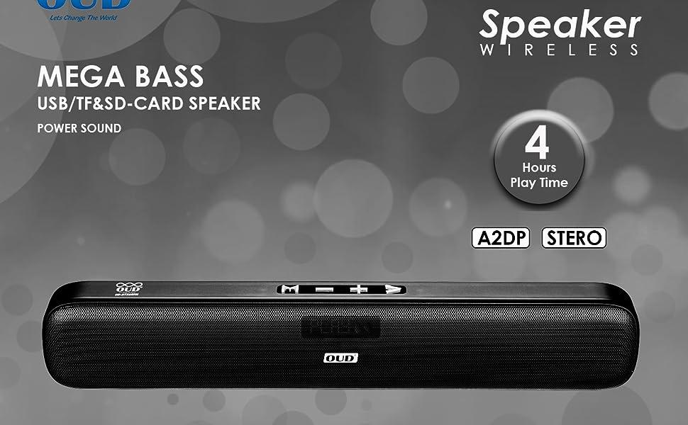 SOUND BAR BLUETOOTH SPEAKER WIRELESS PORTABLE SLEEK LONG AUX USB BATTERY SONY JBL ZEBRONIC POTRON