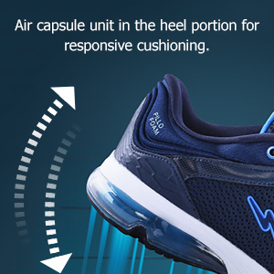 Air Capsule Unit In The Heel Portion Responsive Cushioning