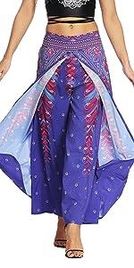 OMZIN Women's Yoga Pants Comfortable Design Boho High Waist Loose Yoga Pants
