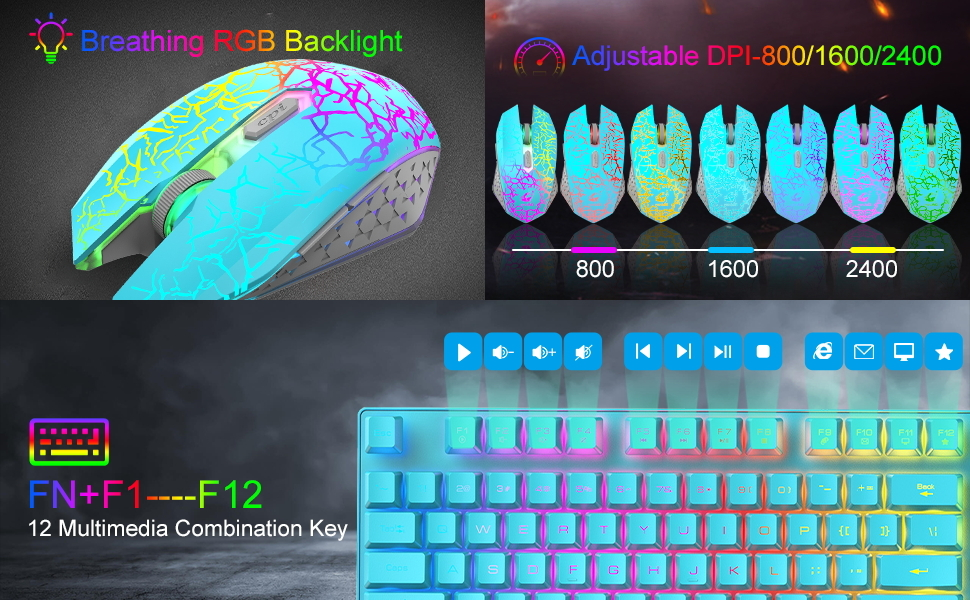 compact wireless keyboard and mouse combo