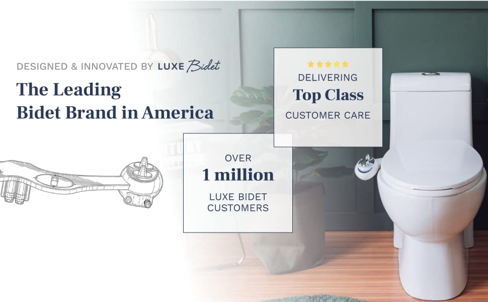 Designed & innovated by the leading bidet brand in America. Delivering top class customer care