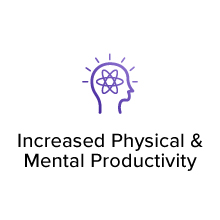 Increased Physical & Mental Productivity