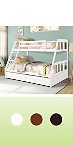 twin over full bunk bed with storage wood bunk bed for kids storage bunk bed white