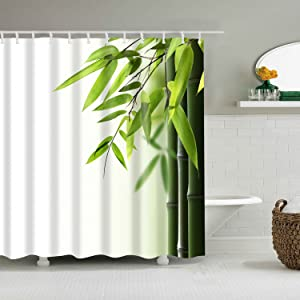 Bamboo and Leaves Shower Curtain