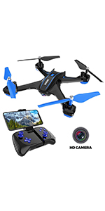 Black REMOKING RC Drone Racing Quadcopter Headless Mode 2.4GHz 360/°flip 4 Channels Altitude Hold Indoor and Outdoor Sport Game Good for Children and Adult as Gifts 12mins Long Flight Time