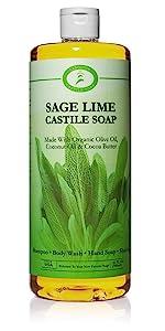 Sage Lime Castile Soap