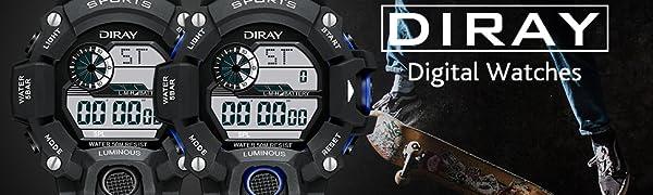 Men's Digital Sports Watch Waterproof Sports Watch Men's Military Digital Sport Watch
