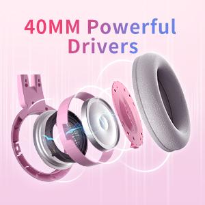 G951S Pink Cat Ear Gaming Headphones