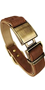 Belt Style Leather Classic Pet Dog Training Collars Strong Headcollar for Medium/Small Dogs