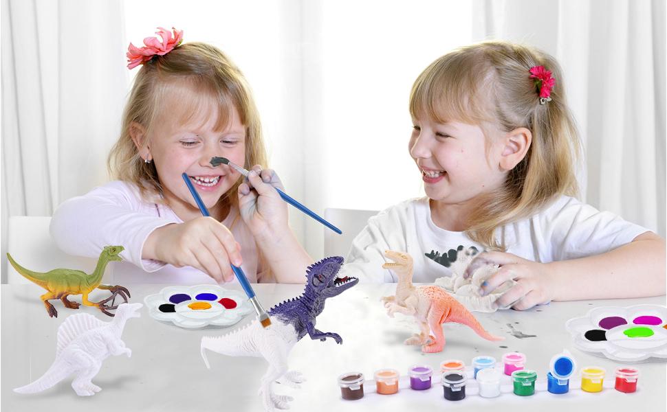 Desire Sky Macchina per dipingere fai-da-te Pittura di dinosauro di Pasqua Uovo Giocattolo per leducazione precoce Decorazione Palla di pittura Kit di pittura per uova