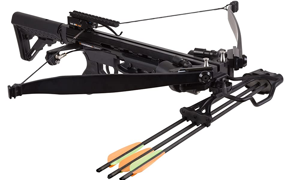 Amazon.com : Steambow Sen-X Onyx Tactical Crossbow with One Push Cocking (Two CO2 Cartridges) : Sports & Outdoors