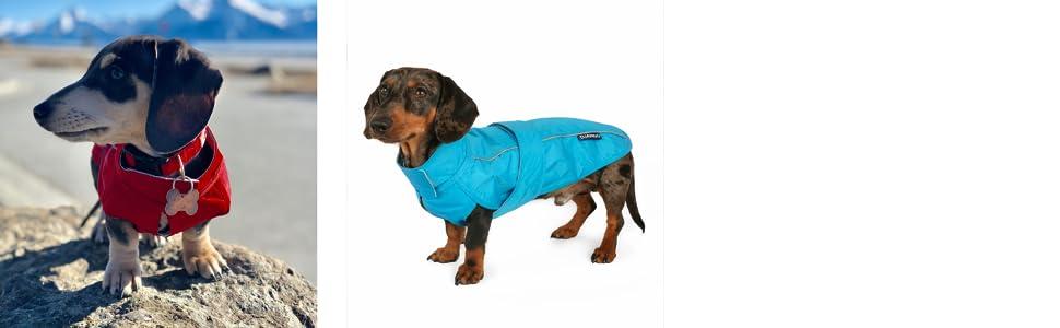 DJANGO City Slicker All-Weather Dog Raincoat and Performance Dog Rain Jacket with Reflective Piping
