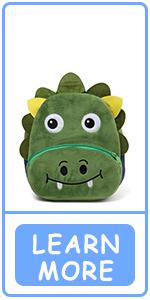 Mochila para Niño Dinosaurio Verde