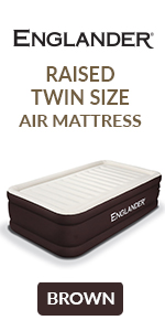 englander brown twin size air mattress inflatable raised blow up bed