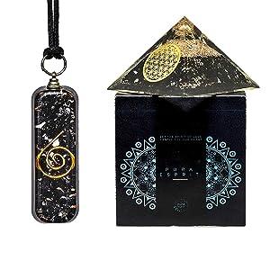 orgonite crystal seven chakra orgone pendant