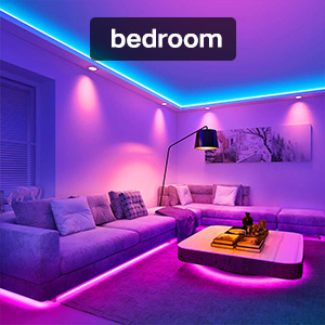 Awanfi Led Strip Lights 50ft 15m Rgb Color Changing Music Sync Led Lights Strip With Remote App Bluetooth Control And 12v Power Supply For Bedroom Tv Room Decor Non Waterproof Amazon Ca Tools