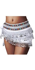 Sequin Skirt Silver