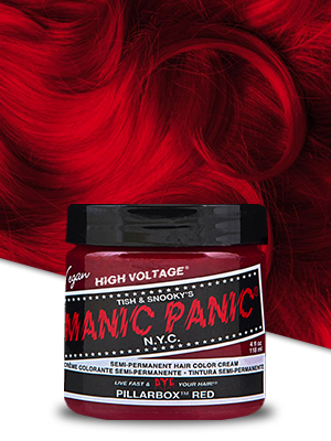 Manic Panic Pillarbox Red Hair Dye Classic Chemical Hair Dyes Beauty