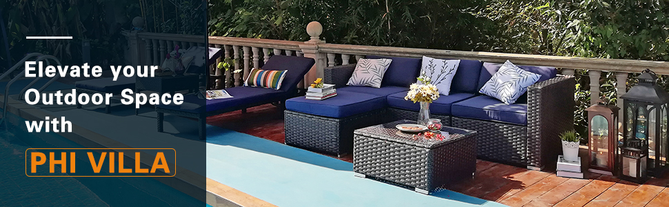 outdoor patio furniture sectional