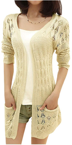 crochet hollow cardigan