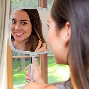portable hand mirror