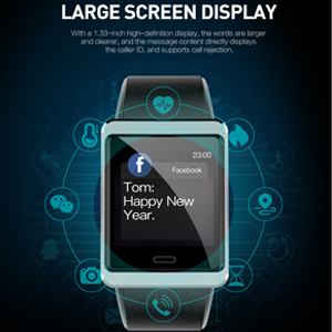 Large screen display fitness tracker