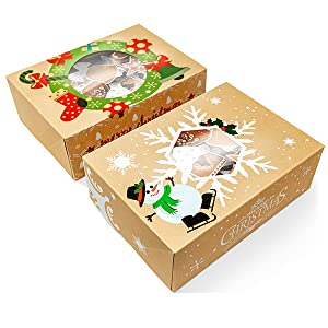 Christmas Gift packaging boxes FREE P/&P 4 x Christmas Snowflakes Cookie Boxes