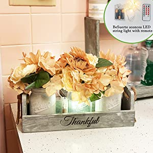 kitchen table decor centerpiece painted mason jars with flowersrustic centerpieces for living room
