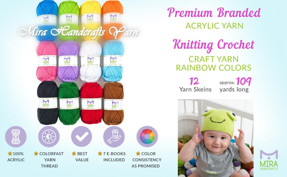 large skeins, large bonbons, multicolored, crochet, knitting, acrylic yarn