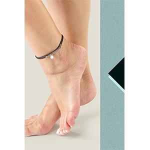 Bracciale regolabile alla  cavigliera da donna