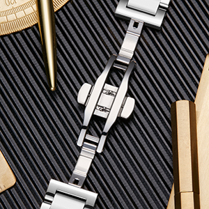 3 grid stainless steel smartwatch band compatible with HUAWEI