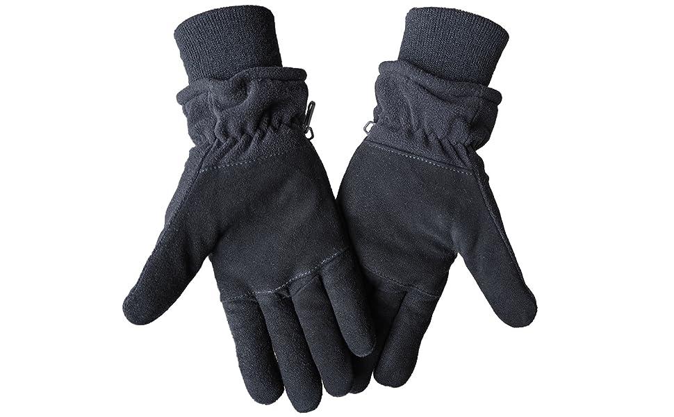 winter deerskin suede gloves