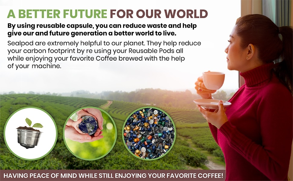 Ecological and Ecofriendly Dolce Gusto reusable coffee pod